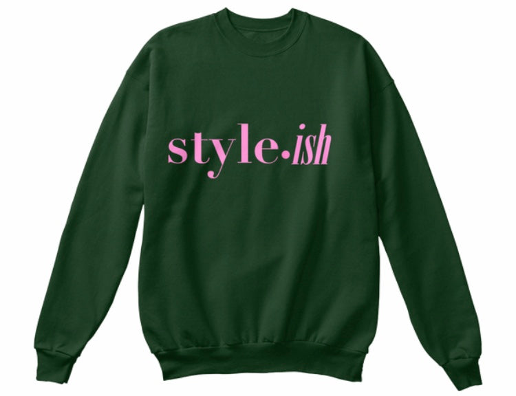 style•ish Sweatshirt - Forest Green