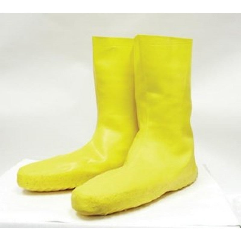 "North Safety Disposable 12"" Latex Booties, Yellow"
