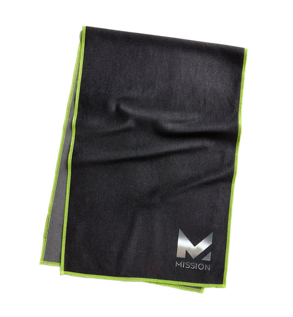 Mission HydroActive MAX Large Jet Black / Hi Vis Green Towel