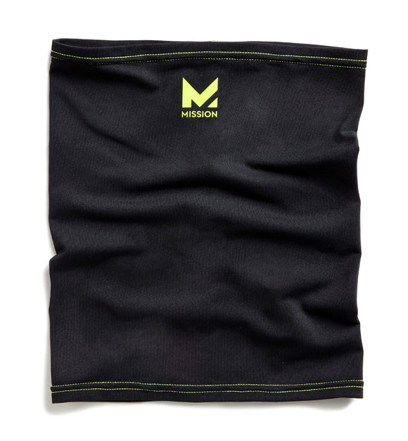 Mission HydroActive Fitness Multi-Cool Jet Black / Hi Vis Green Neck Gaiter & Headband