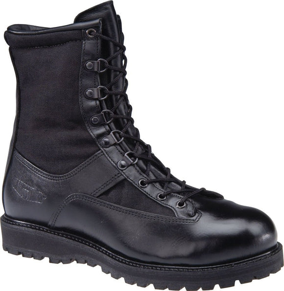 Black Knight 1599 Mens 8 Inch Insulated W/ Non-Metallic Safety Toe Boots, Black