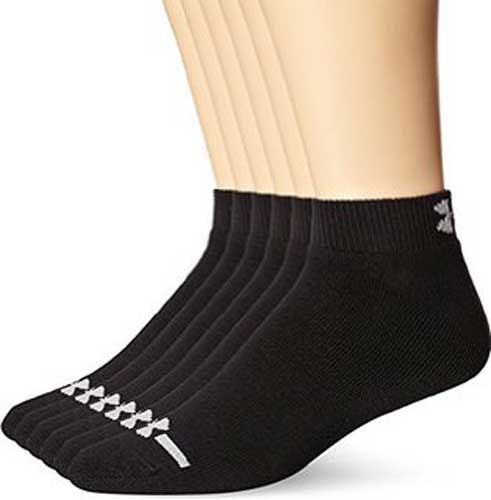 Under Armour 3333 Charged Cotton No-Show Socks 6-Pack
