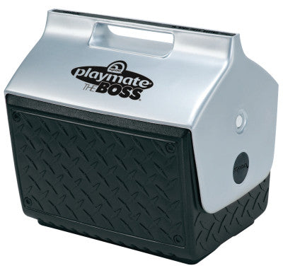 Igloo Playmate The Boss Coolers, 14 qt, Black/Silver