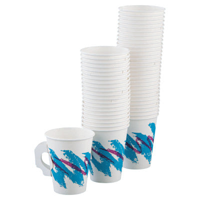 Solo Single Sided Poly Paper Hot Cups, 8 oz, White