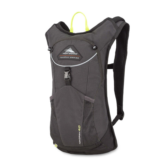 High Sierra Tokopah 4L Hydration Pack, Raven/Black/Zest