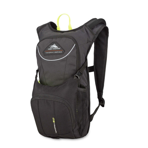 High Sierra Tokopah 6L Hydration Pack, Raven/Black/Zest