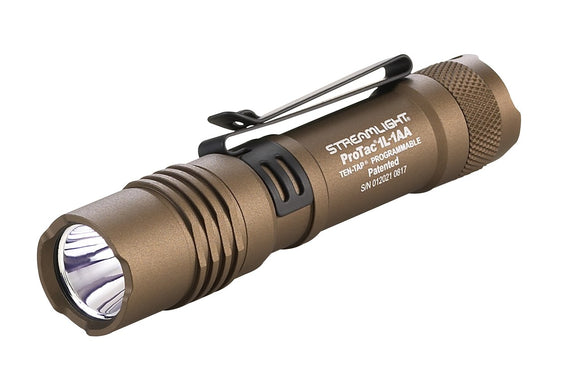 Streamlight 88073 ProTac 1L Programable Tactical Flashlight 350 Lumens, Coyote