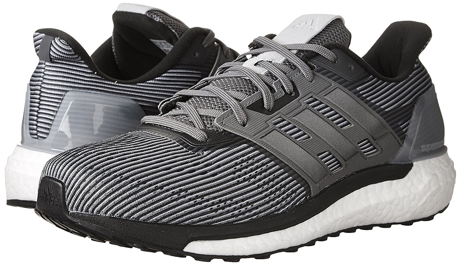 Adidas BB3477 Men's Supernova Grey Two/Night Metallic/Grey Four Running Shoes