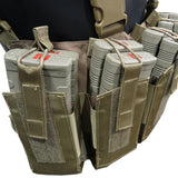 Battle Steel 12 Magazine Chest Rig - Coyote Brown