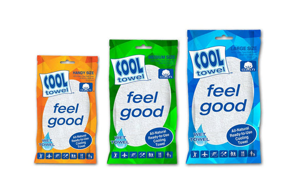 Cool Towel 100% Cotton Hygienic Ready To Use Cooling Towels 3/Pack