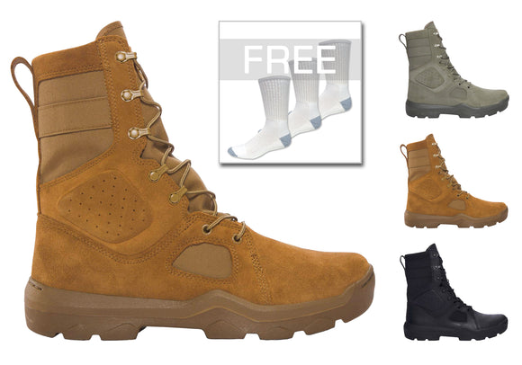 Under Armour 1287352 Men's FNP Tactical Boots W/ FREE 3 Pairs of Socks