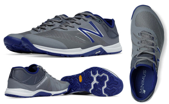 New Balance MX20MB5 Minimus Trainer Men's Cross-Training Shoes, Grey with Blue
