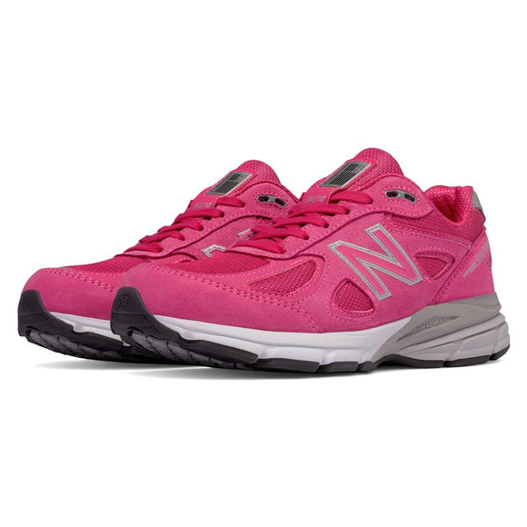 New Balance Pink Ribbon 990v4 Women's Everyday Running Shoes, Pink - W990KM4