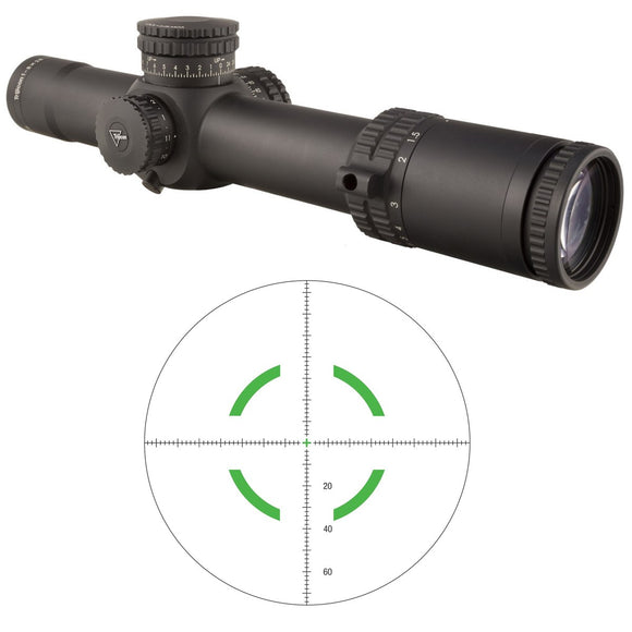 Trijicon 1900027 Accupower 1-8x28 Riflescope w/MOA Crosshair & Green LED