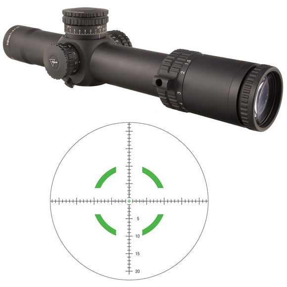 Trijicon 1900029 Accupower 1-8x28 Riflescope w/MIL Segmented Circle Crosshair