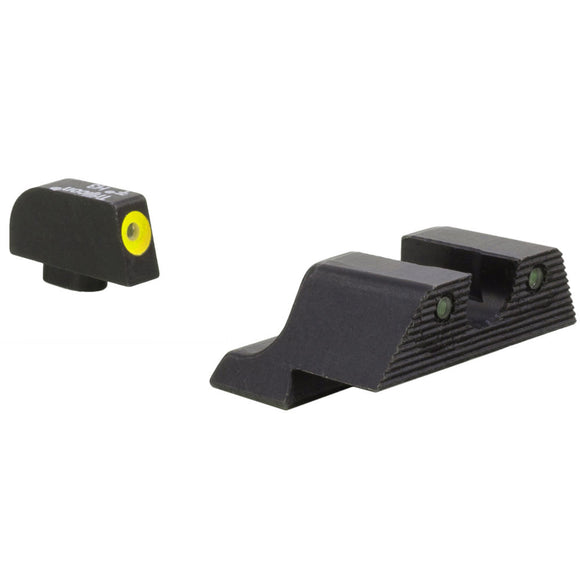 Trijicon HD XR Night Sight w/Thin Front Sight, Glock Models 9/40 No 42/43 Yellow