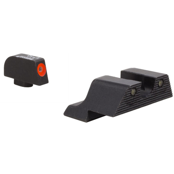 Trijicon HD XR Night Sight w/Thin Front Sight, Glock Models 9/40 No 42/43 Orange