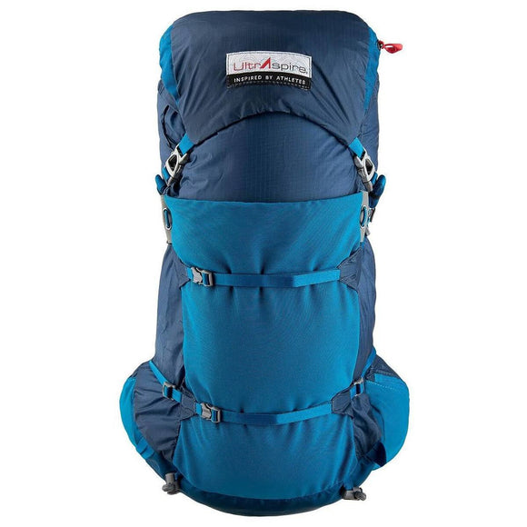 UltrAspire Epic Luminous/Precipitous Blue 25L Capacity Lightweight Backpack W/2 UltraFlask Bottles