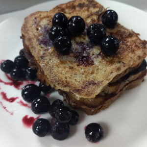 French Toast with Blueberries Gluten Free