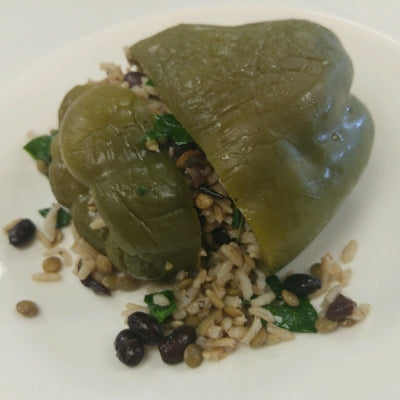ROASTED STUFFED PEPPER WITH LENTILS