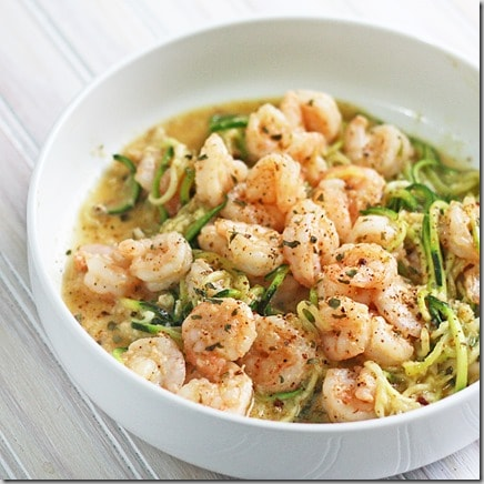 Lime Shrimp and Zoodles (Keto approved)
