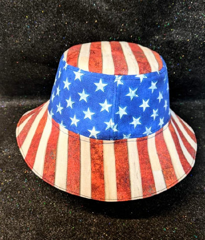 America Bucket Hat Stars and Stripes