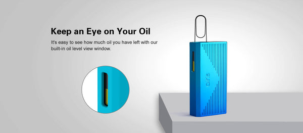 You can view how much oil is left via the built-in level view window.