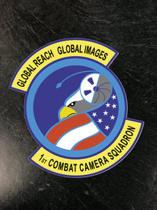 "1st Combat Camera ""Global Reach"" Sticker"