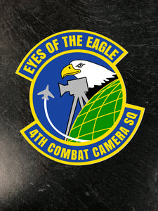"4th Combat Camera ""Eyes of the Eagle"" Sticker"