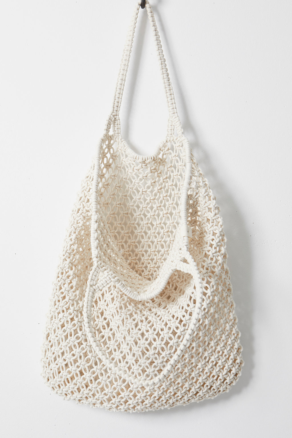 The Beach People Macrame Tote Bag, White