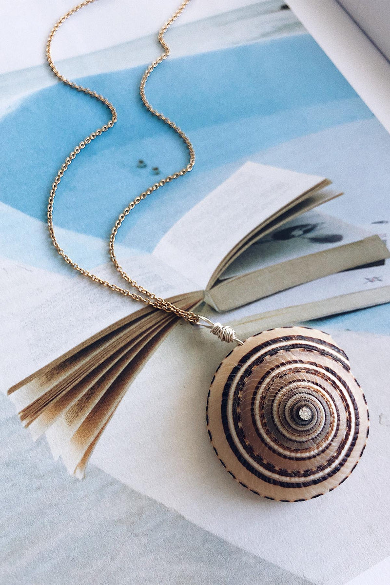 Scallop Shell Necklace, Natural
