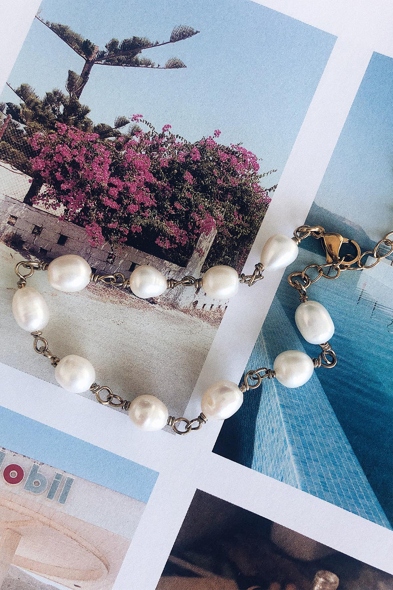 Baroque Pearls Chain Bracelet