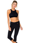 Trinidad Laser Cuts Sports Bra, Black