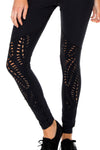 Trinidad Laser Cuts Leggings, Black