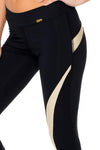 Baracoa Gold Mesh Capri, Black/Gold
