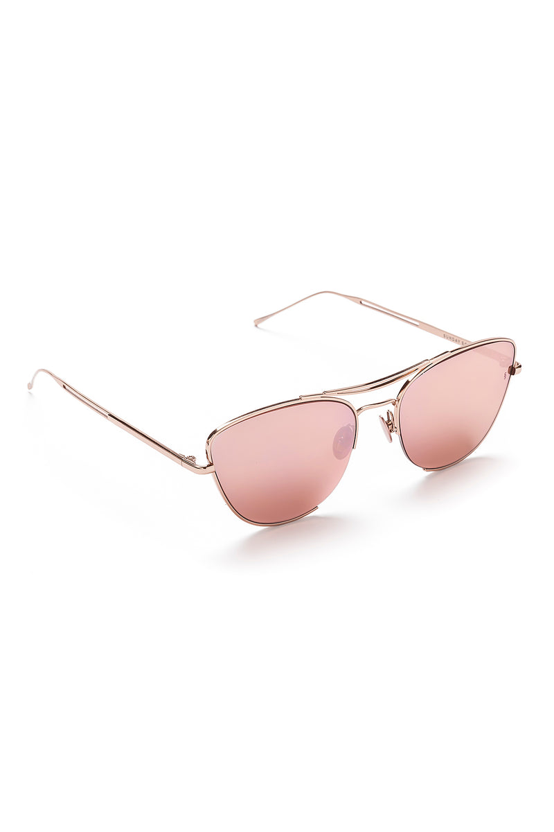 JARJAR Sunglasses, Rose Gold