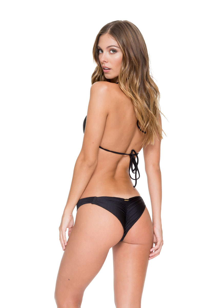 Cosita Buena Push Up Bandeau Bikini, Black