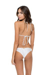 Cosita Buena Push Up Bandeau Bikini, White