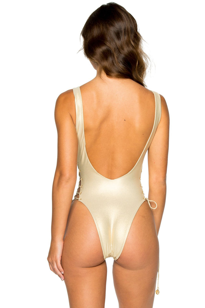 La Corredera Open Side One Piece, Gold Rush