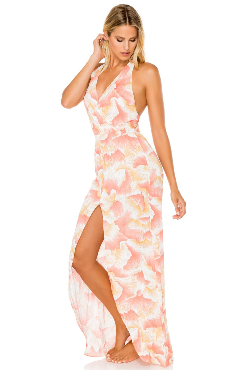 Costa De Luz Flowy Long Dress, Multicolor