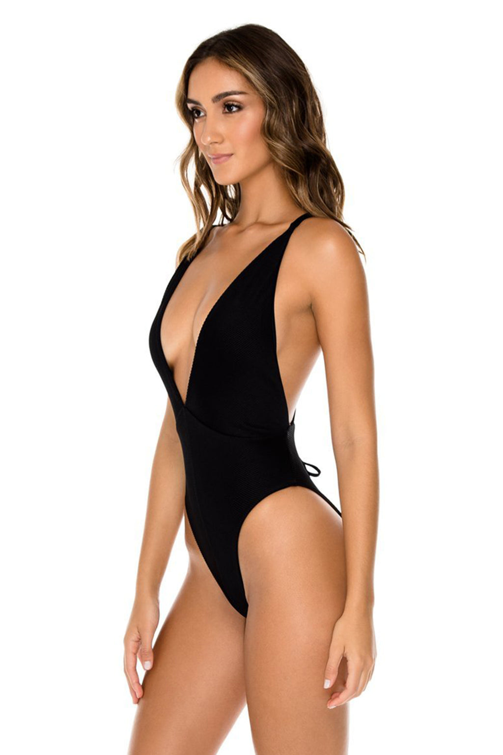 Triana Deep V One Piece, Black