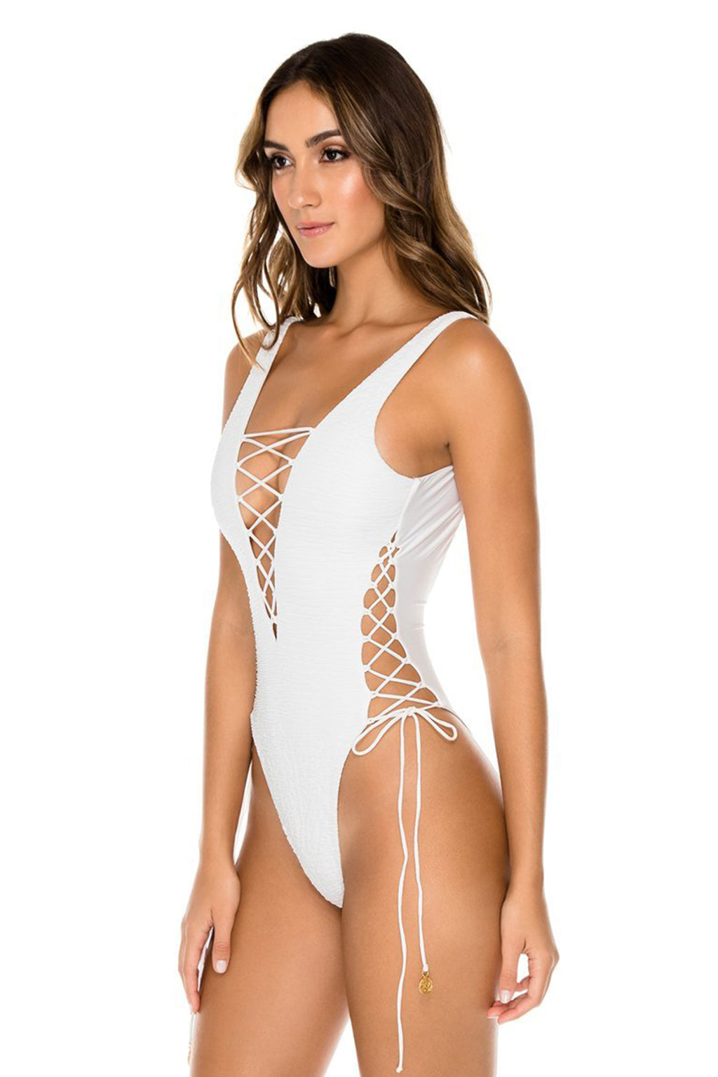 Buleria Open Side One Piece, Ivory