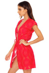 Boho Dream Vest Dress, Rojo