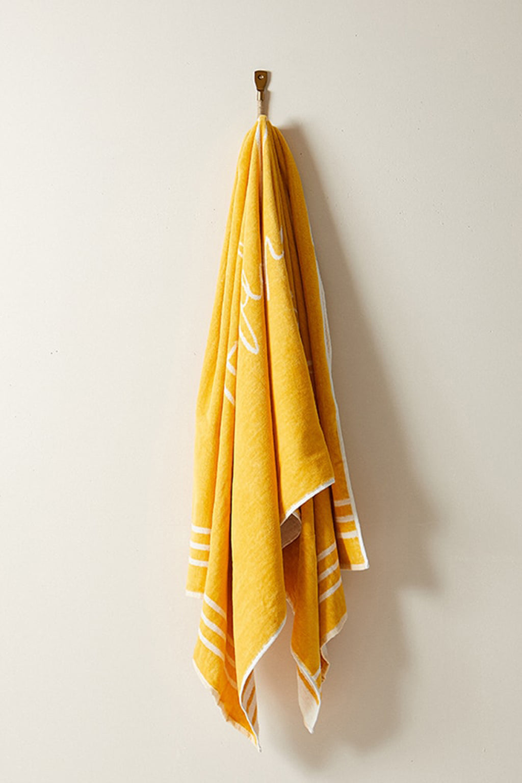 The Beach People Signature Towel, Tuscan Yellow