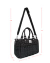 Liquorbrand Black Metal Flake Overnight Bag