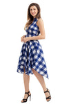 Flared Shirtdress • Blue & White Checks