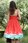 Womens Vintage Style Dress • Novelty Print