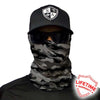 Face Shield/ Tubular Bandana •  Grey Camo