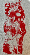 the huntress red alt finery daylesford unisex mens art print aubrey beardsley toad flax mens t shirt Mens Tee Grey Tee Aubrey Beardsley Print