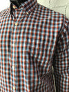 Van Heusen Mens Shirt Red Black Navy and White Check